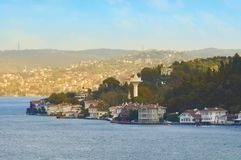 View of the Asian part of Istanbul and Bosphorus from the top of the hill. stock photos