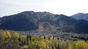 A view of Aspen on fall day. Aspen Colorado seen on a fall day during the color change royalty free stock image