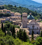 View of Assisi, a famous italian medieval town Stock Photos