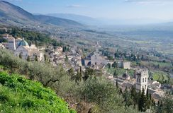 View of Assisi From La Rocca stock photo