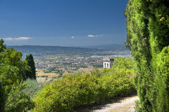 View of Assisi. Umbria. Royalty Free Stock Photo