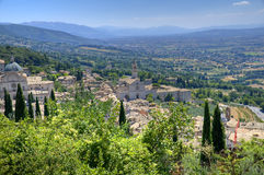 View of Assisi. Umbria. Royalty Free Stock Image