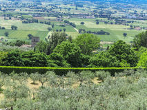 View of Assisi valley, Umbrien, Italy Royalty Free Stock Image