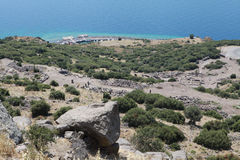 VİEW OF THE ASSOS, CANAKKALE. Royalty Free Stock Photos
