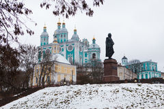 A view of the Assumption Cathedral in Smolensk Royalty Free Stock Images