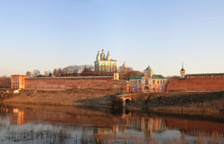 View of the Assumption Cathedral. Smolensk. Assumption Cathedral. Smolensk Fortress Wall, which is also known as 'Smolensk Kremlin', Russia Stock Photography