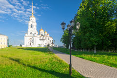 View of the Assumption Cathedral in Vladimir, Russia Royalty Free Stock Images