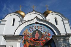 View of the Assumption Church in Yaroslavl, Russia. Stock Image