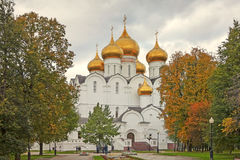 View of the Assumption Church in Yaroslavl, Russia. A popular touristic landmark. YAROSLAVL, RUSSIA - SEPTEMBER 15, 2016: View of the Assumption Church in royalty free stock image