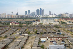 The view of the Astana city from the outskirts Stock Photo