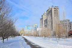 A view in Astana / Kazakhstan Royalty Free Stock Images