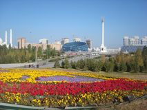 View of Astana on a sunny warm day stock image