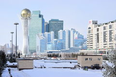 View in Astana in winter Royalty Free Stock Photography