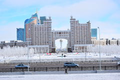 View in Astana in winter Stock Photo
