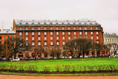 View of Astoria hotel in historical city center of Saint-Petersb Stock Photo