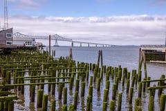View of Astoria Megler Bridge between Oregon and Washington states stock photography