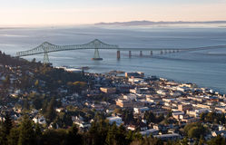 View of Astoria, Oregon Stock Photo