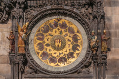 View of the astronomical clock in Prague Royalty Free Stock Images