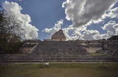 View of astronomical observatory of Chichen Itza 5 stock photography