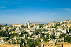 View At Old City Of Granada Stock Photography