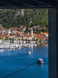 View At Small Croatian Town Skradin Stock Photography