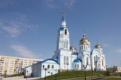 View At Temple Of Kazan Icon Of The Mother Of God In Saransk, Repulic Mordovia Royalty Free Stock Image