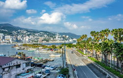 View on Atami City from Boat Rental Service locality Stock Photography