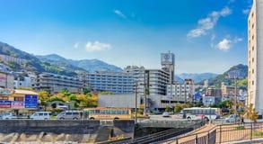 View of Atami city centered on Ohnoya hotel Stock Photo