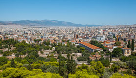 View of athenes. Panoramic view to the city, athenes, greece Royalty Free Stock Photography