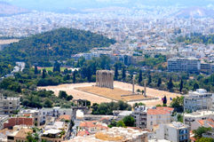 The view of Athens royalty free stock photos