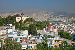 View on Athens from Acropolis Royalty Free Stock Photography