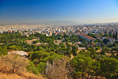 View on Athens from Acropolis Royalty Free Stock Photos