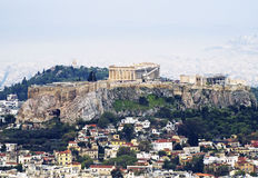 A view of Athens with the Acropolis. From the Licabetto Stock Photos