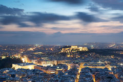 View of Athens and Acropolis from above Stock Image
