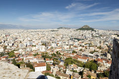 View of Athens from the Acropolis, Royalty Free Stock Photography