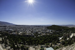 View of Athens from the Acropolis. Greece Stock Photos