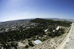 View of Athens from the Acropolis Stock Photos