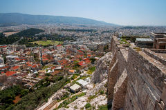 View of Athens from Acropolis, Greece.  Royalty Free Stock Image