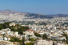 View of Athens from the Acropolis Royalty Free Stock Photo