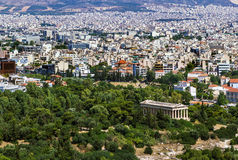 View of Athens from the Acropolis Royalty Free Stock Photos