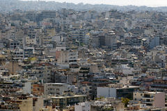 View of Athens from the Acropolis Stock Photography