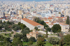 View of Athens from Aeropagus Hill, Greece Stock Photos