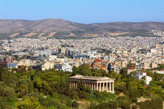 View of Athens city from Acropolis hill, Greece royalty free stock photo