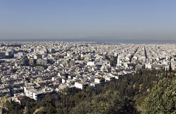 View of Athens city at Greece. (Philopappus hill view Royalty Free Stock Photo
