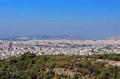 View of Athens city in the morning, Greece Royalty Free Stock Images