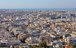 View of Athens city in the morning Royalty Free Stock Images