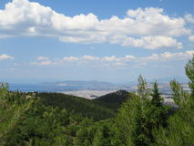 A view of Athens city and salamina island, Greece Royalty Free Stock Photography