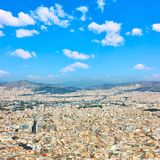 View of Athens city Royalty Free Stock Photography