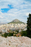 View on Athens and Lycabettus mount Royalty Free Stock Image