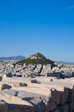 View of Athens and Mount Lycabettus, Greece. Stock Images